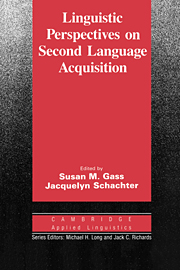 Image for Linguistic Perspectives on Second Language Acquisition