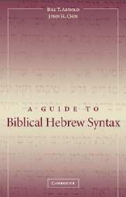 Image for A Guide to Biblical Hebrew Syntax