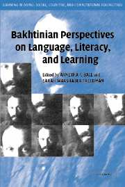 Image for Bakhtinian Perspectives on Language, Literacy, and Learning
